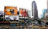 Bukit Bintang kawasan pusat belanja terkenal di Kuala Lumpur, Malaysia.