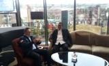 Deddy Mizwar saat bertemu dengan Zulkifli Hasan di Hotel Trans, Bandung, Kamis (4/1).