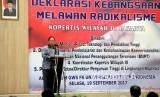 Deklarasi Kebangsaan Kopertis Jakarta. Menristek Dikti Mohamad Nasir memberikan sambutan saat Deklarasi Kebangsaan Melawan Radikalisme untuk Kopertis Wilayah Jakarta di FK UKI, Jakarta, Selasa (19/9).