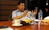 Dirut PTPN VII Dolly Pulungan memaparkan persiapan PTPT VII menggarap kawasan wisata Teluk Nipah di Lampung Selatan, Rabu (15/11).