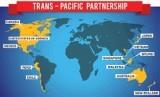 Gambar peta negara yang bergabung di TPP