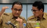 Jakarta governor Anies Baswedan and deputy governor Sandiaga Uno