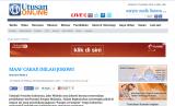 Harian Utusan Malaysia yang memberitakan tentang Jokowi.