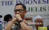 Kapolri Jenderal Pol Tito Karnavian memberi keterangan kepada wartawan di gedung MUI, Jakarta, Senin (28/11).
