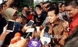 Ketua DPR Setya Novanto berjalan usai memenuhi panggilan KPK di gedung KPK, Jakarta, Jumat (14/7).