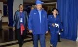 Ketua Umum Partai Demokrat, Susilo Bambang Yudhoyono (tengah).