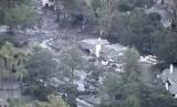 Kondisi rumah warga di Santa Barbara pascaterjangan banjir lumpur