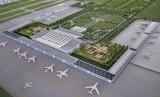 Lanskap maket proyek pembangunan Bandara Internasional Kertajati di Kabupaten Majalengka, Jawa Barat (Ilustrasi)