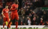 Liverpool v Besiktas - UEFA Europa League Second Round First Leg - Anfield, Liverpool, England - 19/2/15 Liverpool's Mario Balotelli runs off at the end of the match