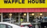 Lokasi penembakan di restoran Waffle House, Nashville, Tennessee, AS.