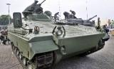 Main Battle Tank (MBT) Leopard yang dipamerkan di Indo Defence 2012 di Jakarta Internasional Expo, Kemayoran, Jakarta, Senin (5/11).