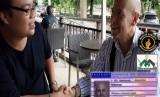 Mualaf Wilhelmus Johanes Joseph bersama Ketua Mualaf Center Indonesia, Steven Indra Wibowo
