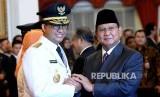 Gubernur DKI Jakarta Anies Baswedan dan Ketum Gerindra Prabowo Subianto.