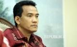 Pengamat Hukum Tata Negara Refly Harun saat menjadi pembicara dalam diskusi Dialog Kenegaraan di Kompleks Parlemen, Jakarta, Rabu (1/3).