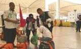 Jamaah haji Indonesia di Bandara Internasional King Abdul Aziz Jeddah. (olistrasi).