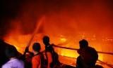 Kebakaran rumah warga (ilustrasi)
