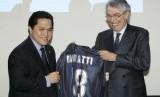 Presiden Erick Thohir dan Presiden Kehormatan Inter Milan Massimo Moratti.
