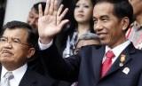 Presiden Jokowi bersama Wapres JK.