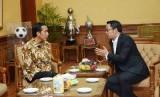 Presiden Jokowi dan Wali Kota Bandung Ridwan Kamil.