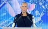 Robot Sophia, robot pertama yang diberi kewarganegaraan oleh Arab Saudi.