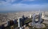 Salah satu sudut Dubai dari atas.