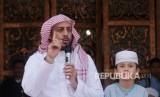 Syekh Ali Jaber di Masjid Raya Baiturrahman Banda Aceh, Ahad (15/4).