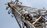 Telecommunication tower in Jakarta (illustration)