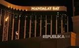 Hotel The Mandalay Bay lokasi tempat terduga penembakan Las Vegas, Nevada, AS, Senin (2/10)