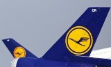 The tails of German air carrier Lufthansa aircraft are seen at Fraport airport in Frankfurt. (file photo)