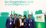 Tim mahasiswa ITS pemenang ketiga Go Green in the City (GGITC) East Asia 2013