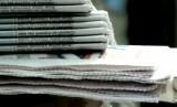Tumpukan koran (ilustrasi)