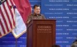 Wapres RI Jusuf Kalla menyampaikan pidato di kampus Columbia University, New York.