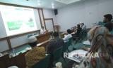 Workshop Pelatihan Akuntansi Masjid bersama Institut Akuntansi Masjid dan Republika, di Masjid Pusdai, Kota Bandung, Sabtu (21/4).