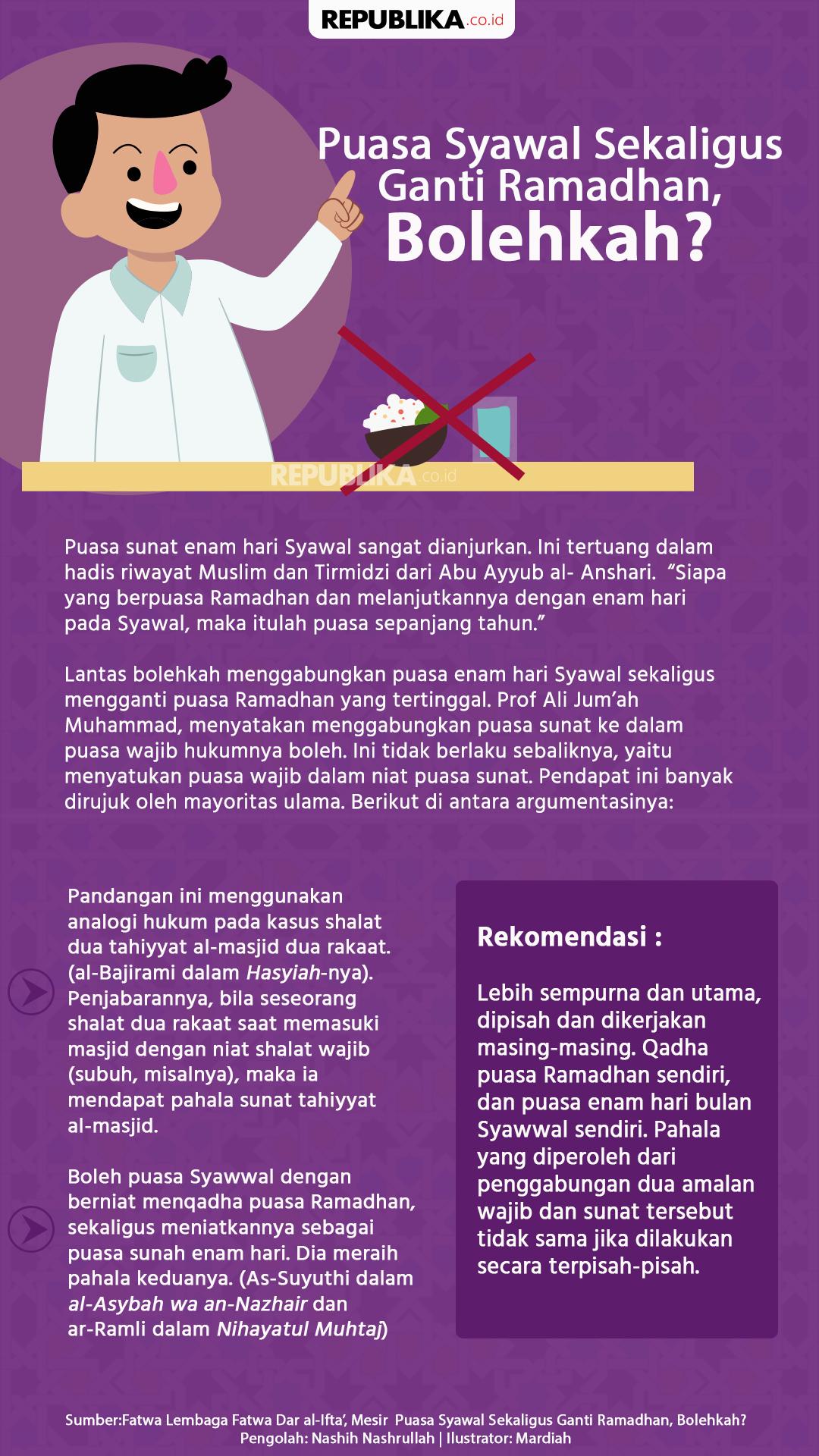 Puasa Syawal Sekaligus Ganti Puasa Ramadhan Bolehkah Republika Online