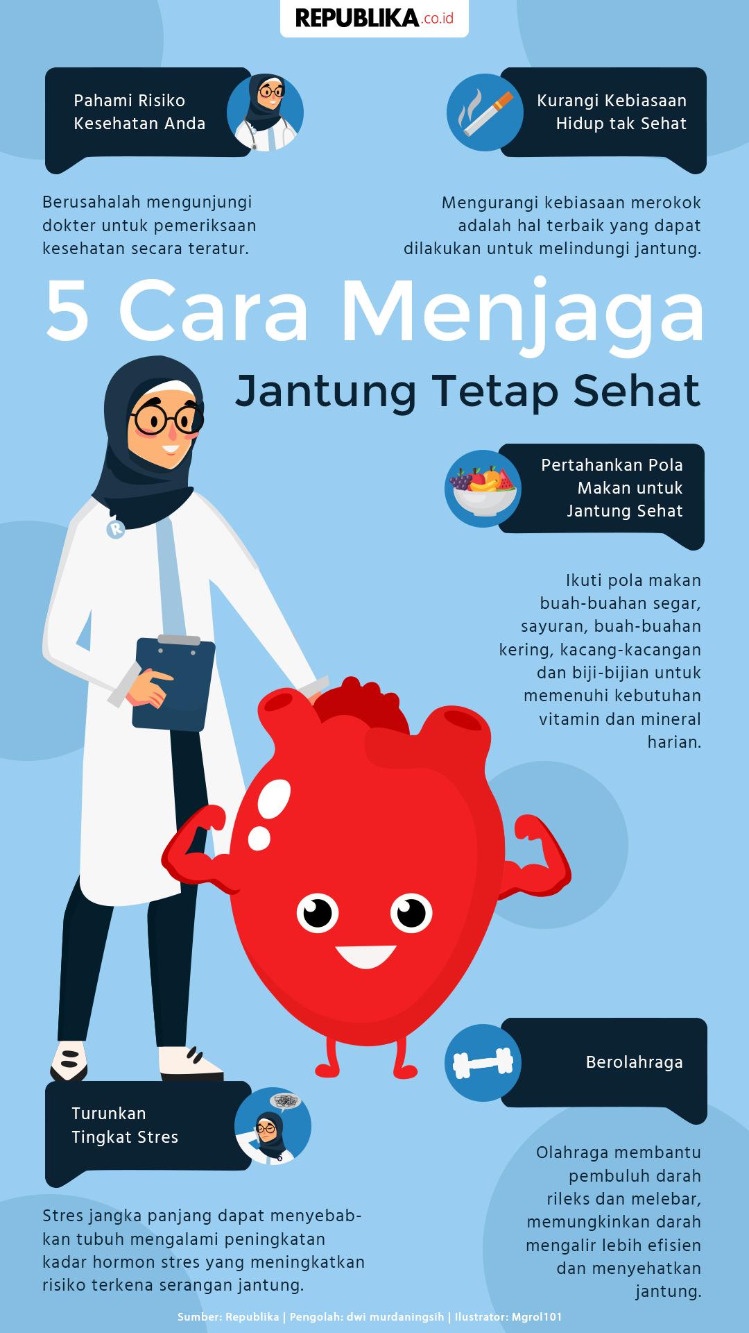 5 Cara Menjaga Jantung Tetap Sehat | Republika Online