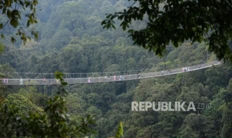 Jembatan Gantung Terpanjang se-Asia Jadi Ikon Sukabumi