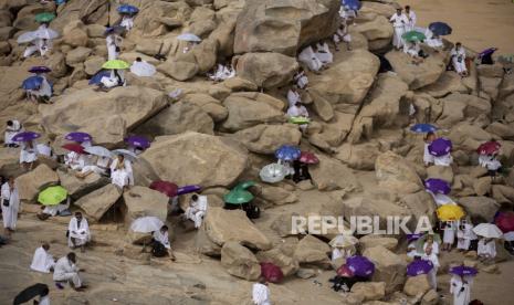 In Picture: Wukuf Jamaah Haji di Arafah pada Tahun Kedua Pandemi