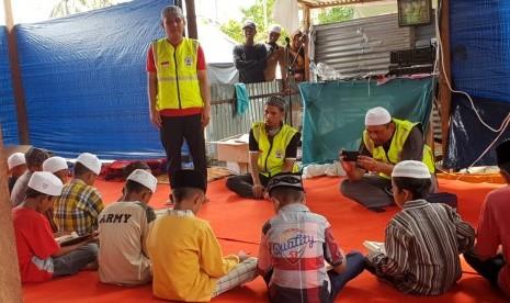 In Picture: DMI Kirim Relawan Penghafal Alquran ke  Pengungsian Gempa