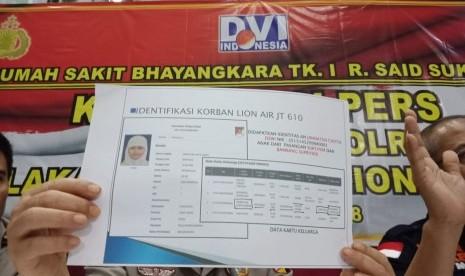 Tim DVI Polri Sudah Identifikasi 82 Korban Lion Air