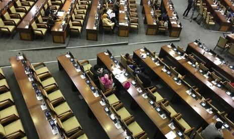 Kursi Kosong Tampak di Rapat Paripurna Tutup Tahun DPR