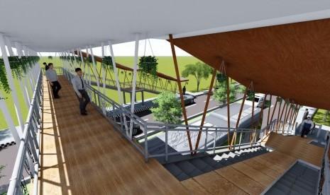 Mahasiswa ITS Rancang Jembatan Penyeberangan Ramah Difabel