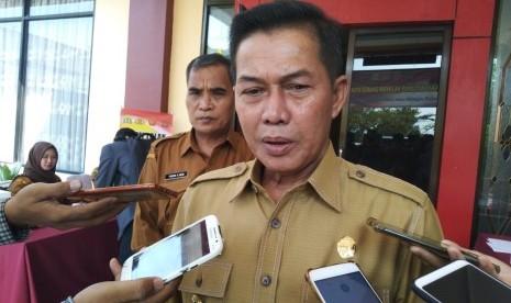 Wali Kota Serang Syafrudin, saat membuka penyuluhan Sapu Bersih (Saber) Pungutan Liar Kota Serang, Senin, (1/7).