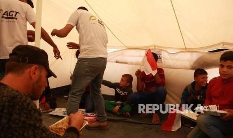 ACT Salurkan Bantuan Pangan Bagi 500 Warga Gaza