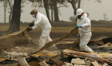 Korban Tewas Kebakaran Hutan Kalifornia Capai 59 Orang