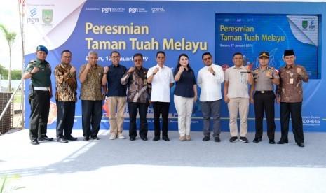 Pemkot Batam dan PGN Resmikan Taman Tuah Melayu Batam