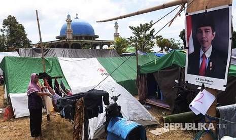 Sepertiga Pengungsi Gempa Lombok Belum Kembali ke Rumah