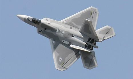 Pesawat tempur F-22.