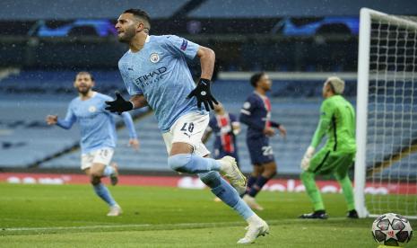 Mahrez Bikin Gol Lagi, Man City vs PSG Sementara 2-0