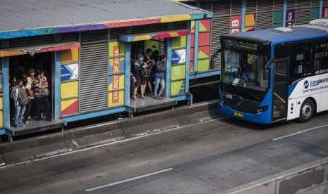Tiga Halte Transjakarta Dibangun di Skybridge Tanah Abang