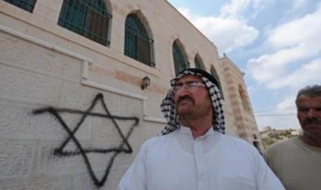 Pemukim Yahudi Rusak Masjid di Tepi Barat